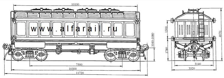 схема  вагона 10-4022
