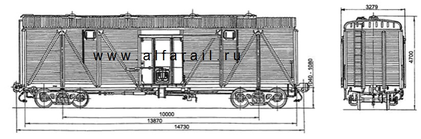 схема крытого вагона 11-066-04