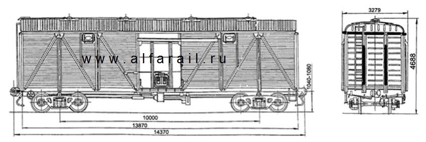 схема крытого вагона 11-066-09
