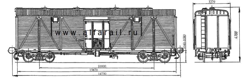 схема крытого вагона 11-066-10