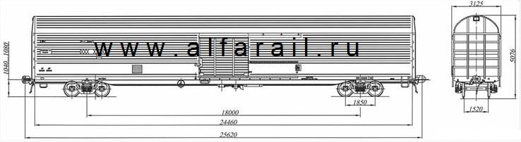 схема крытого вагона 11-1709