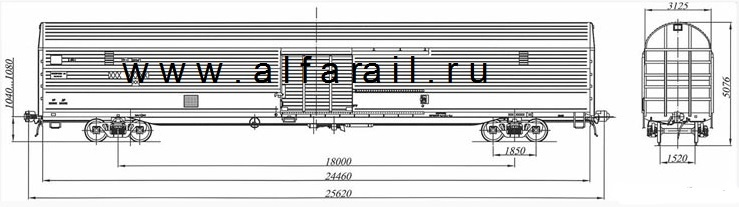 схема крытого вагона 11-1759