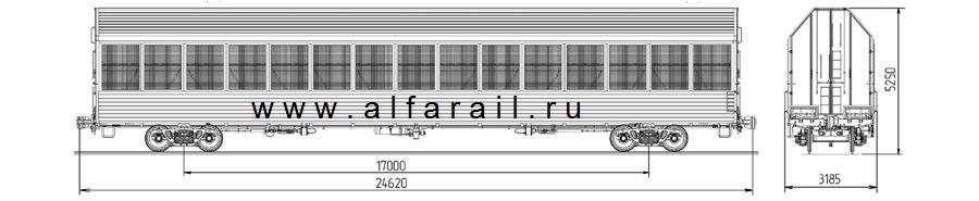 схема крытого вагона 11-1804