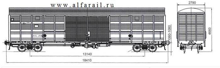 схема крытого вагона 11-1807-01