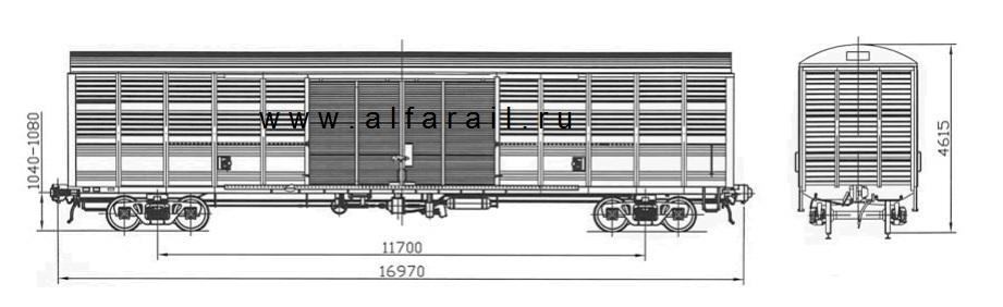 схема крытого вагона 11-1807-02