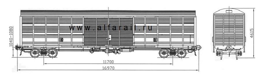 схема крытого вагона 11-1807-30