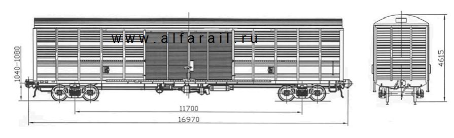 схема крытого вагона 11-1807