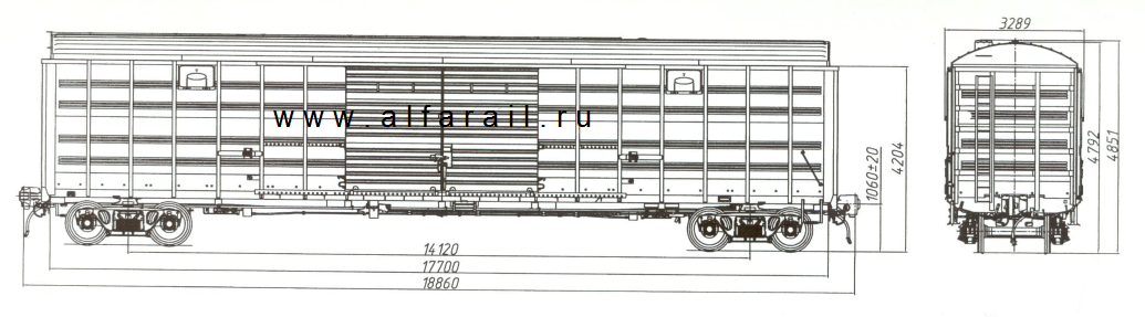 схема крытого вагона 11-2135-01