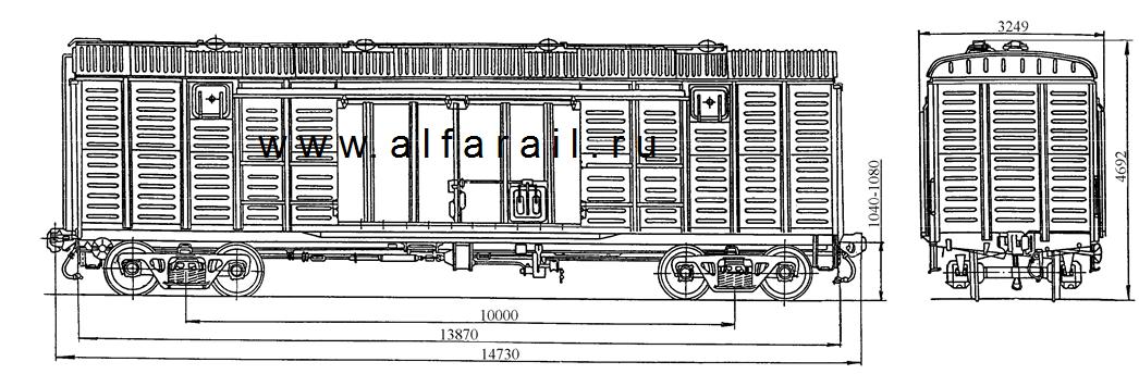 схема крытого вагона 11-217