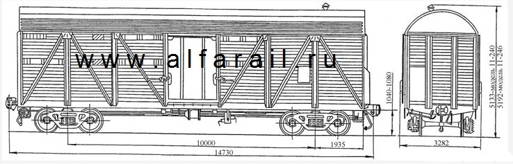 схема крытого вагона 11-240