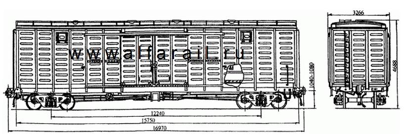 схема крытого вагона 11-260