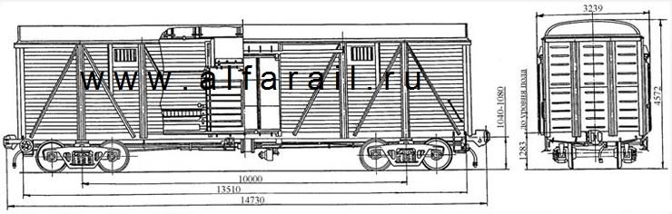 схема крытого вагона 11-261