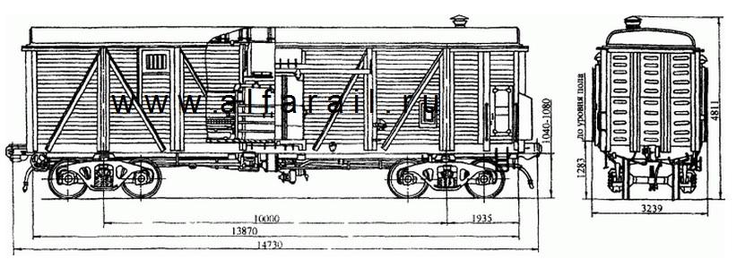 схема крытого вагона 11-262