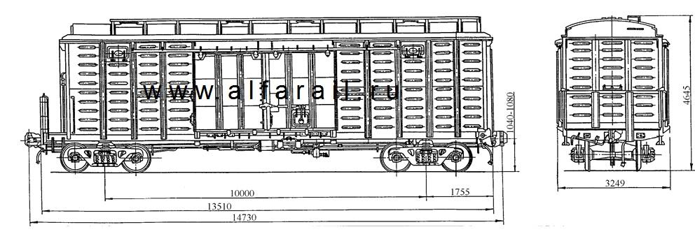 схема крытого вагона 11-264