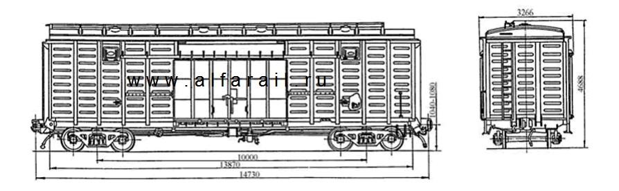 схема крытого вагона 11-270-13