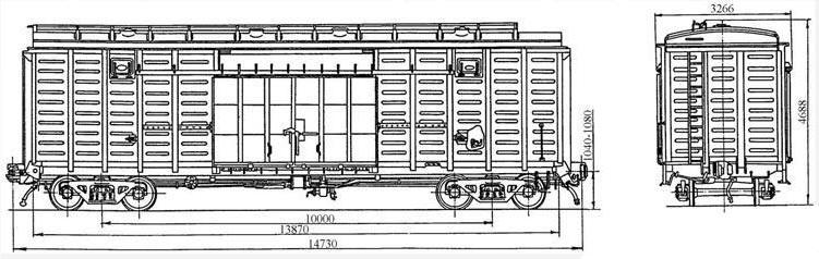 схема крытого вагона 11-270