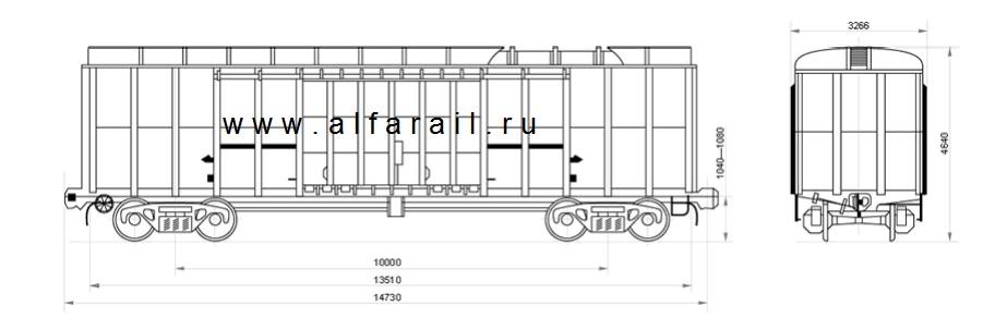 схема крытого вагона 11-274-01