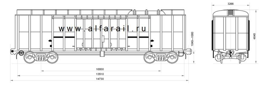 схема крытого вагона 11-274-13