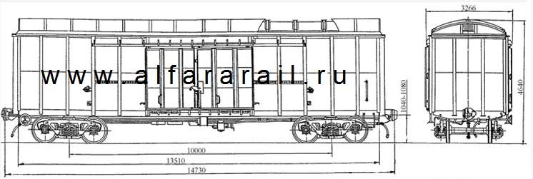 схема крытого вагона 11-274