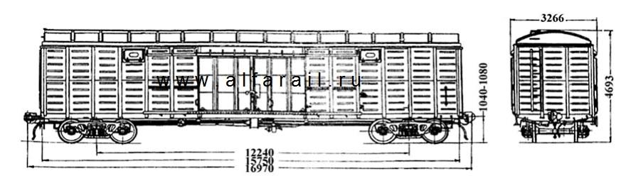 схема крытого вагона 11-280Е