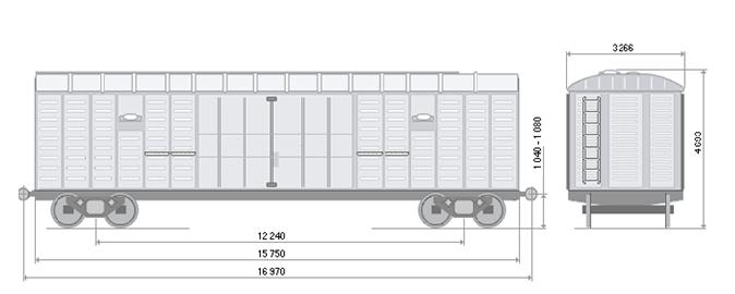 крытый вагон мод.11-280