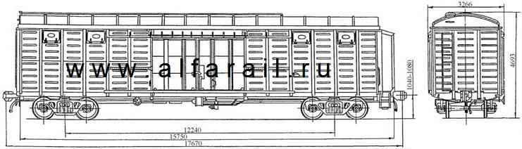 схема крытого вагона 11-286