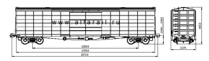 схема крытого вагона 11-7038