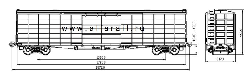 схема крытого вагона 11-7045