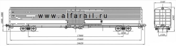 схема крытого вагона 11-9553