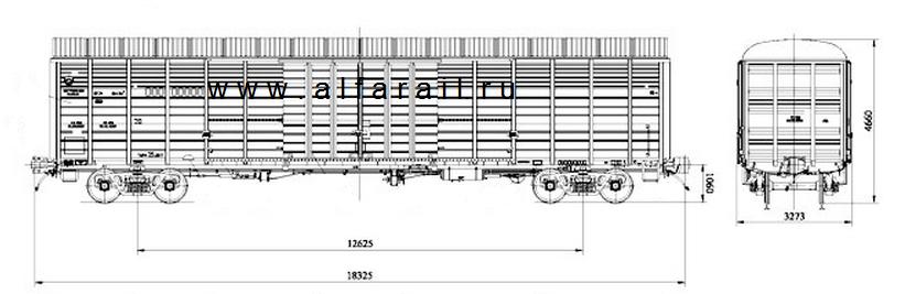 схема крытого вагона 11-9962