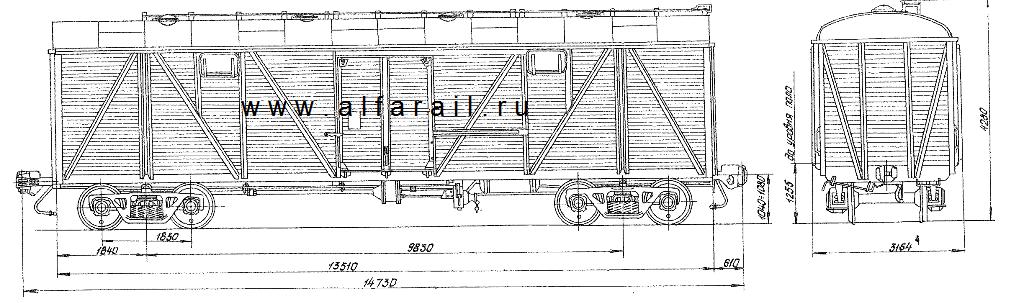 схема крытого вагона 11-K251